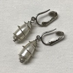 """Sarah Coventry 1960's """"Caged Pearl"""" Clip-ons"""